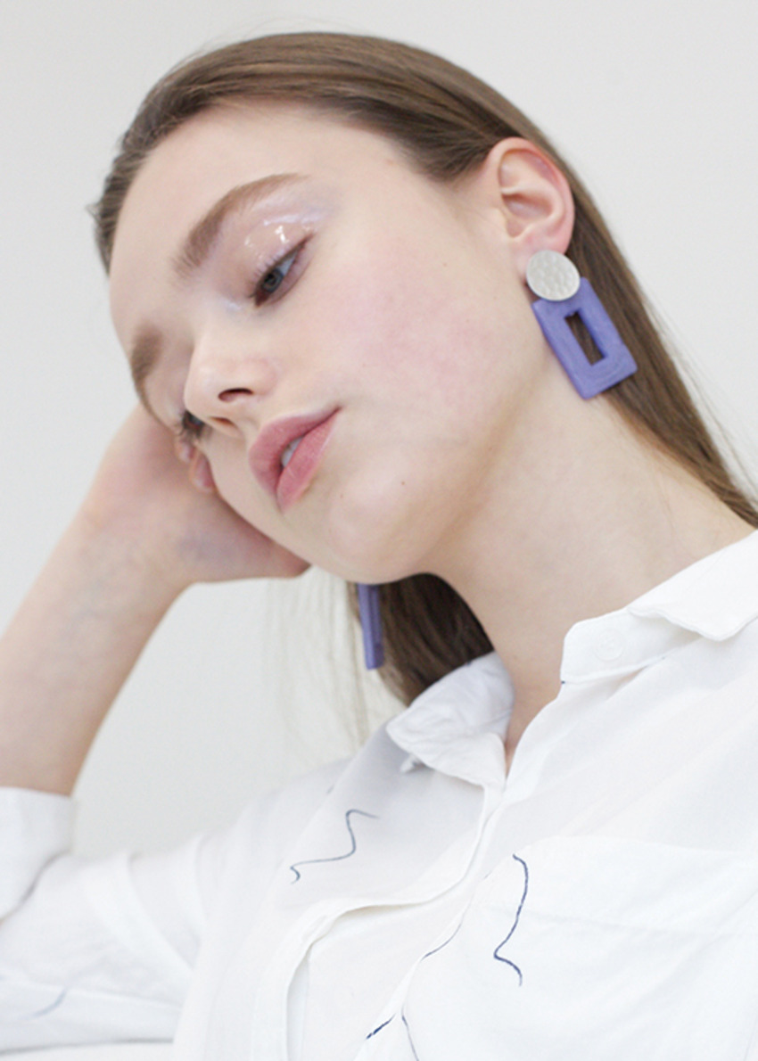 more jude purple earring
