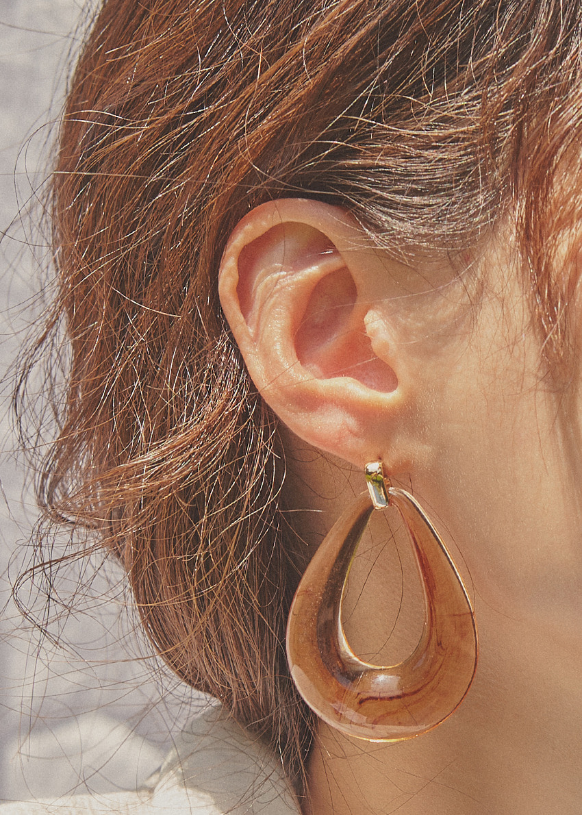 [hot summer] marbling earring