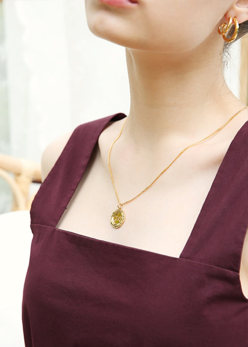 dent necklace gold (silver 92.5)