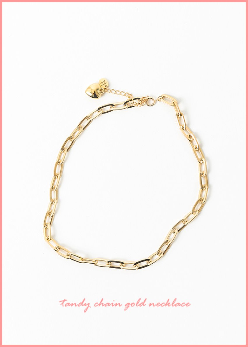 tandy chain gold necklace