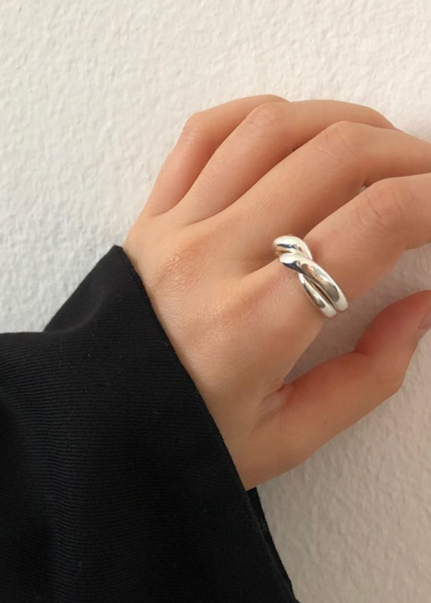 *PICK* dance the twist  ring silver 925