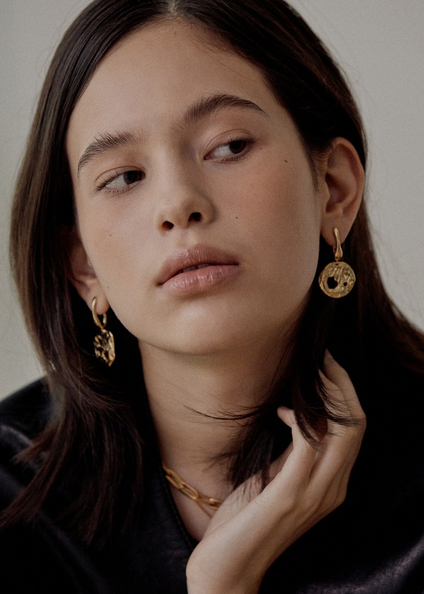 Rora gold earring