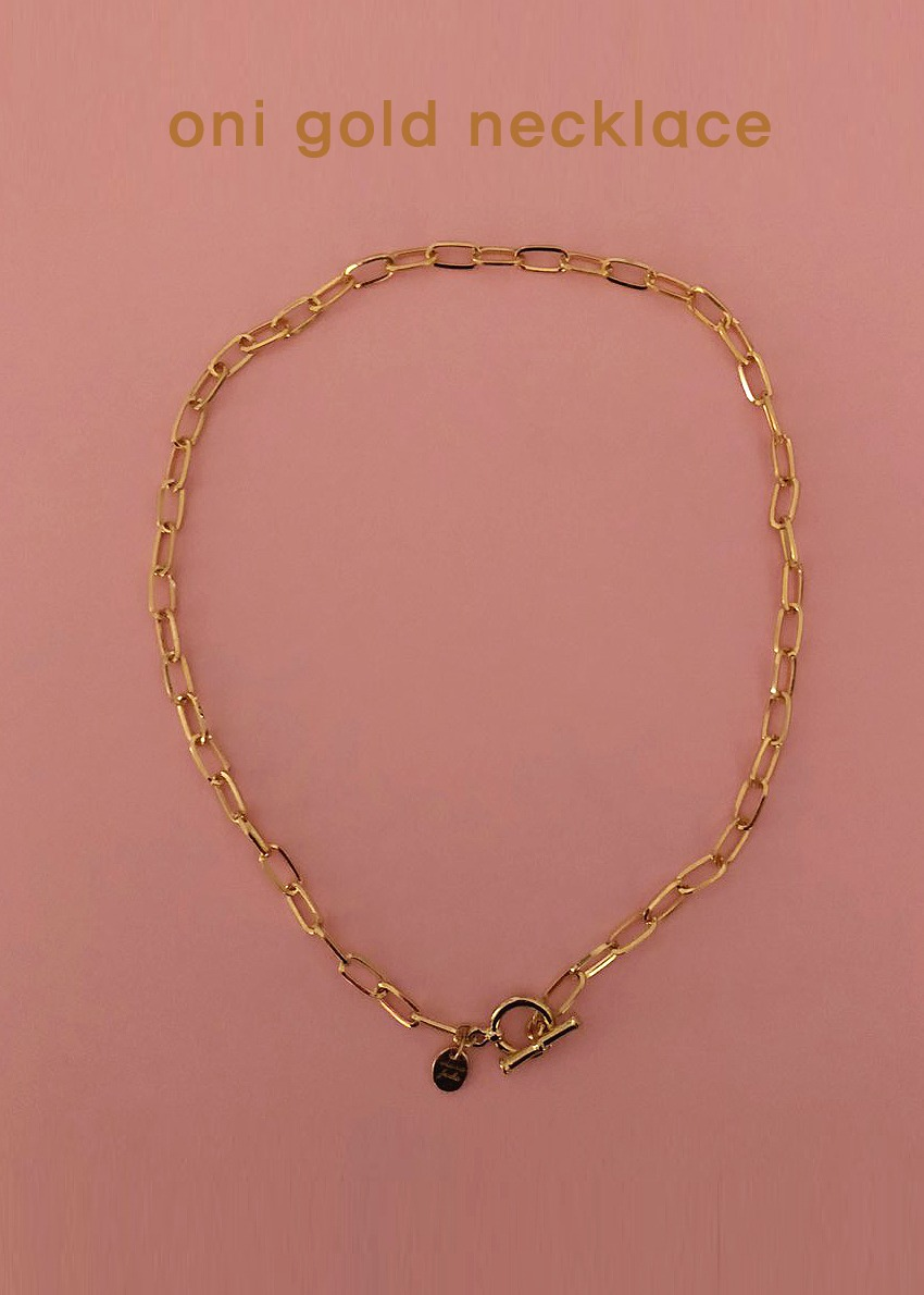 oni gold necklace