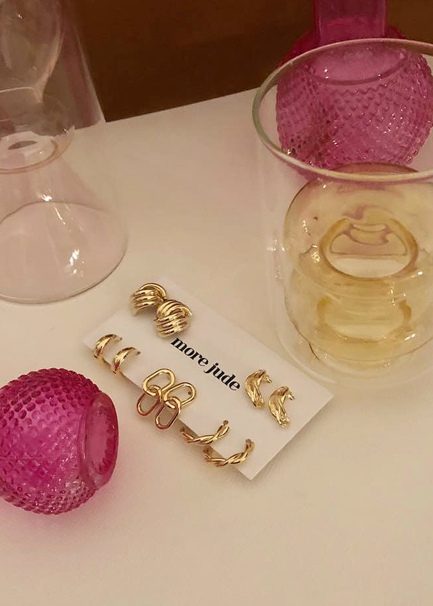 daily earring 5set gold