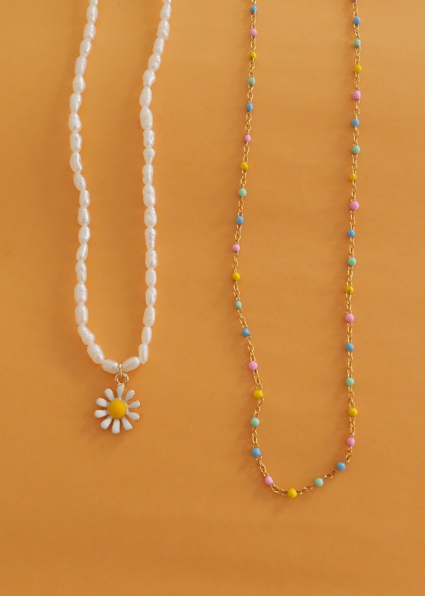 [2SET]summer daisy necklace