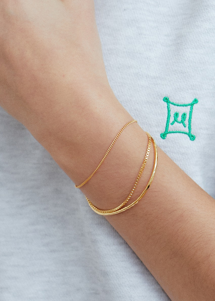 cross 2way gold bracelet