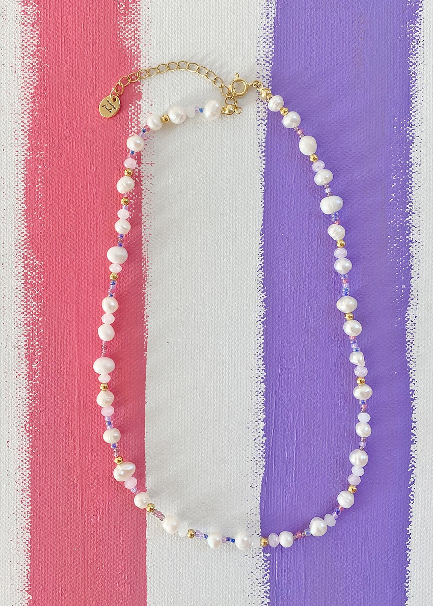 no.3 pink lady necklace